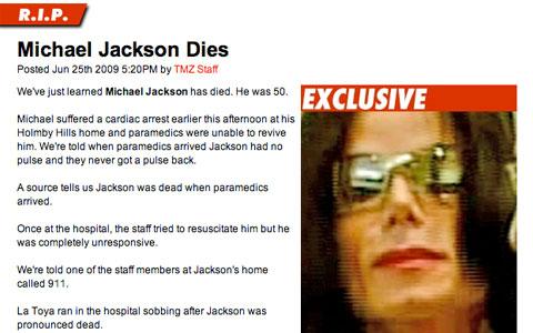 Michael Jackson gestorben