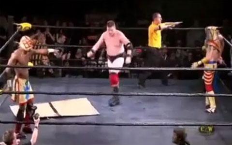 Hypnose im Wrestling Kampf