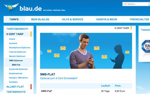 SMS Flat von Blau